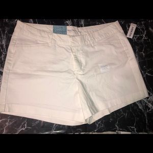 White old navy shorts brand new with tags size 12